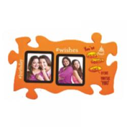 WOODEN COLLEGE PHOTO FRAME -2 PHOTOS