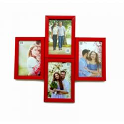 FOUR- IN-ONE PHOTO FRAME-RED