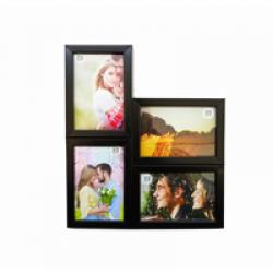 WALL HANGING FOUR- IN-ONE PHOTO FRAME-BLACK