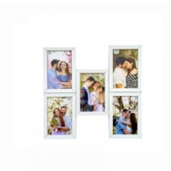 FIVE IN ONE PHOTO FRAME - WHITE