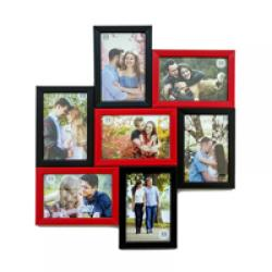 MULTI PHOTO FRAME - BLACK AND RED