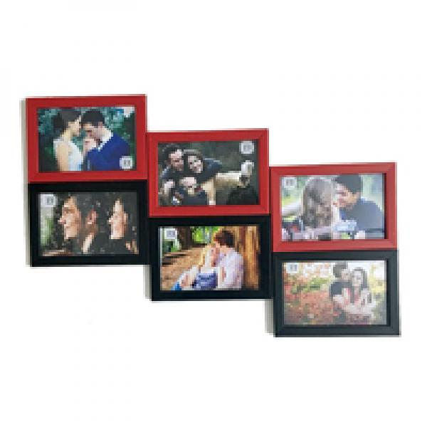 MULTI PHOTO FRAME - RED AND BLACK