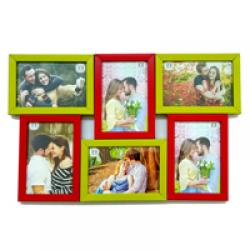 Multi coloured Photo frames - Red and Green
